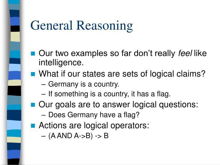 General Reasoning