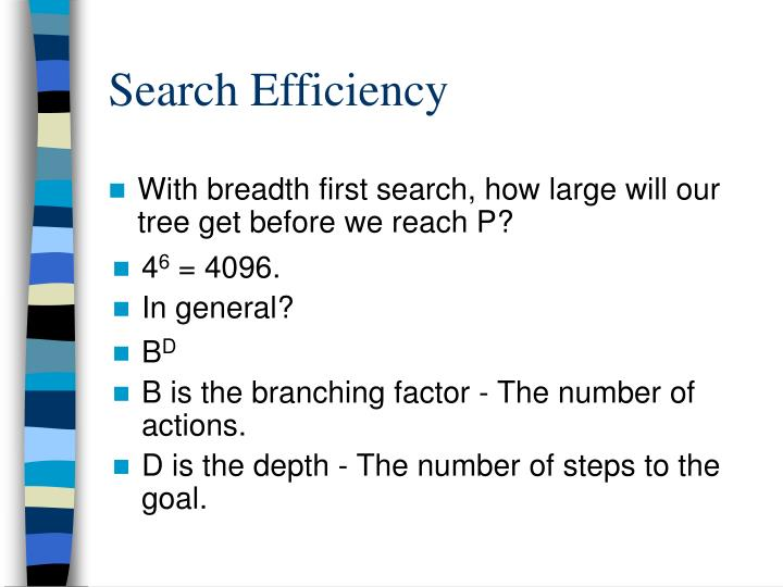 Search Efficiency