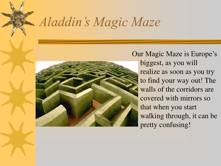 Aladdin's Magic Maze