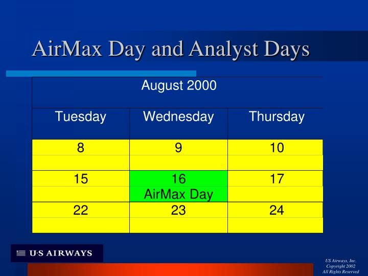 AirMax Day and Analyst Days