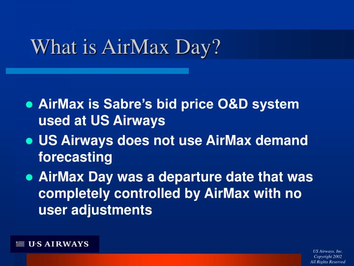 What is airmax day