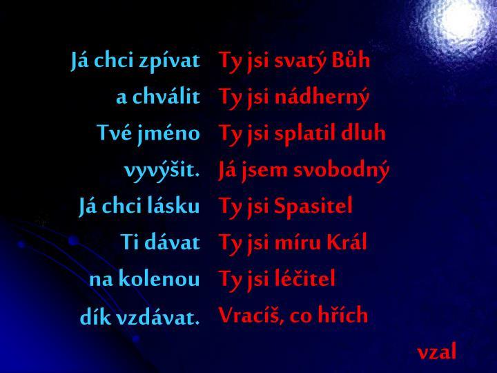 Já chci zpívat