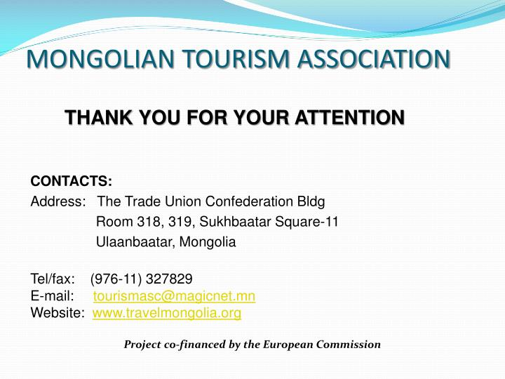 MONGOLIAN TOURISM ASSOCIATION