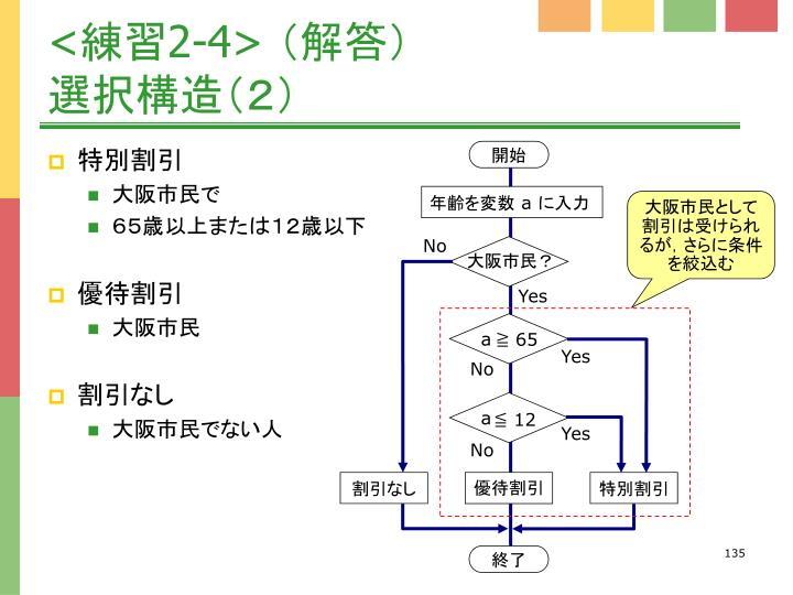 大阪市民として割引は受けられるが,さらに条件を絞込む