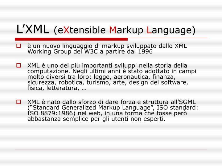 L'XML