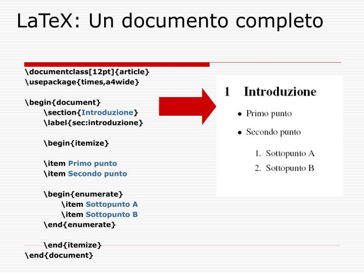 LaTeX: Un documento completo