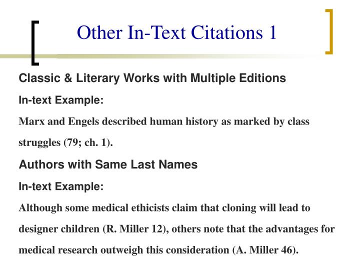 Other In-Text Citations 1