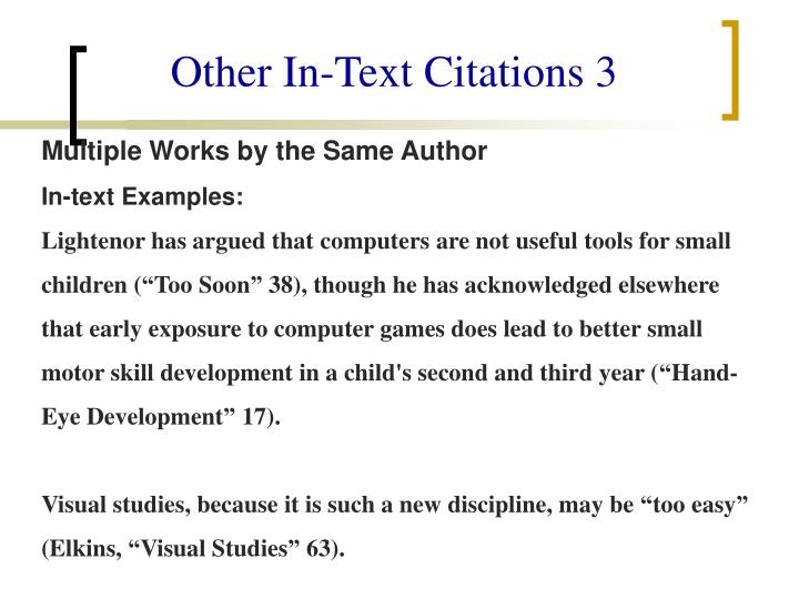 Other In-Text Citations 3