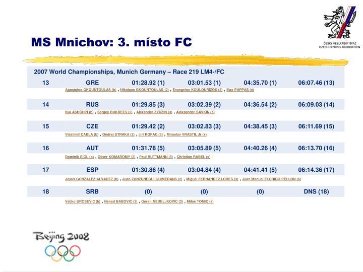 MS Mnichov: 3. místo FC