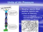 units of air pressure