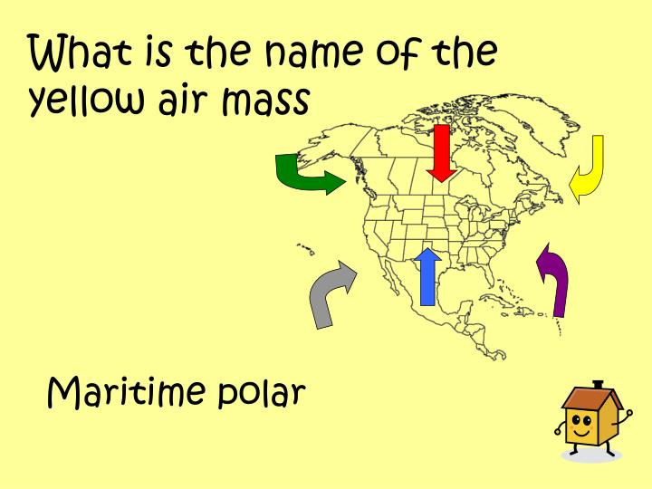 What is the name of the yellow air mass