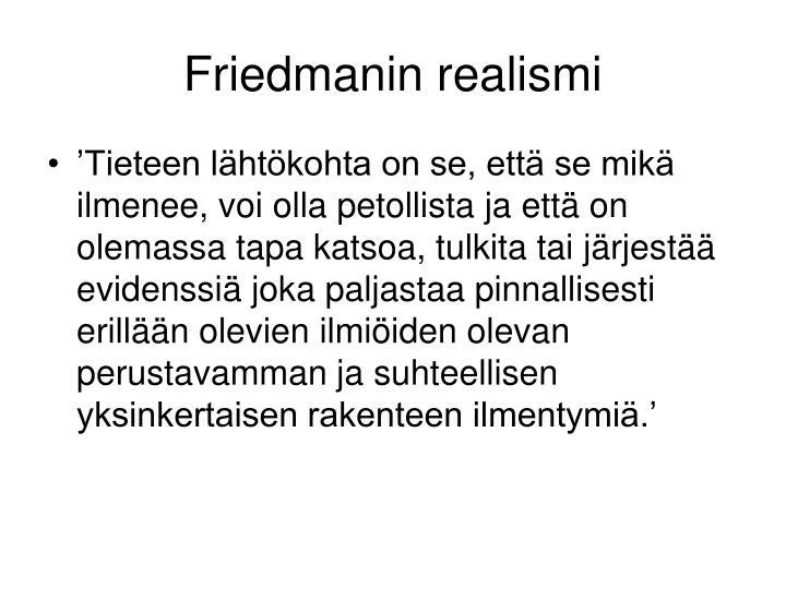 Friedmanin realismi