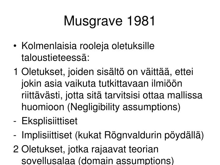 Musgrave 1981
