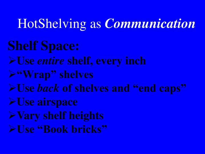 HotShelving as