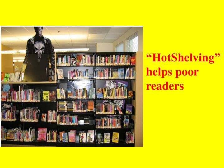 """HotShelving"" helps poor readers"