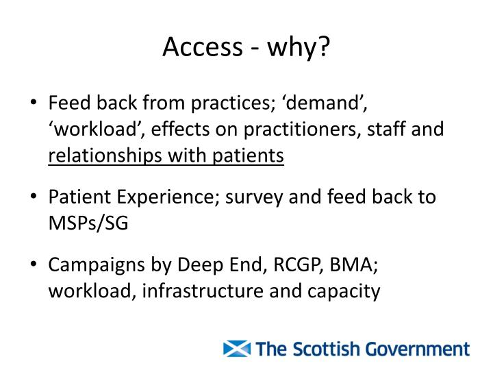 Access - why?