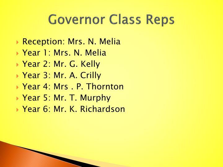 Governor Class Reps