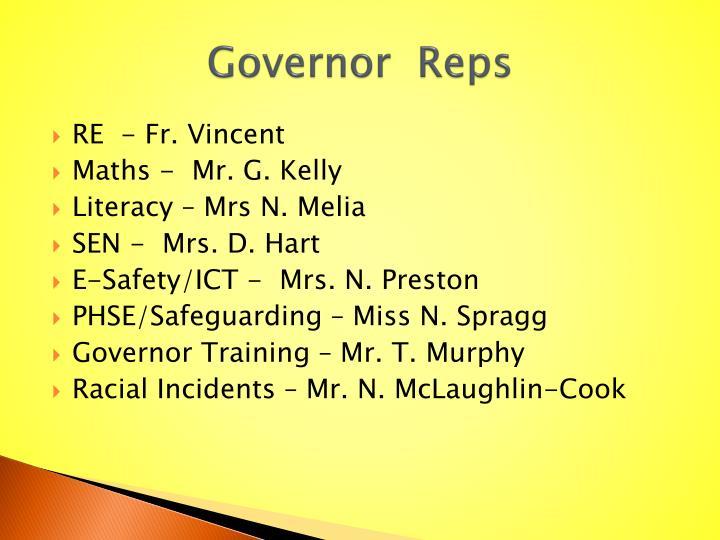 Governor  Reps