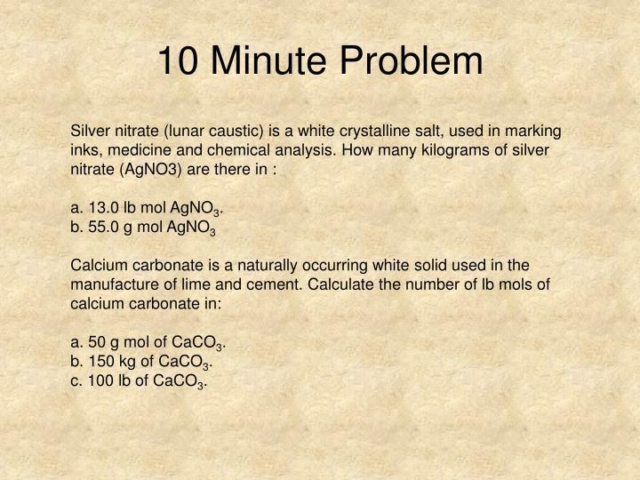 10 Minute Problem