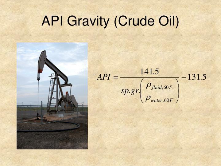 API Gravity (Crude Oil)