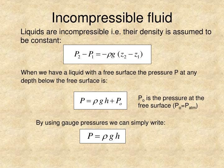 Incompressible fluid
