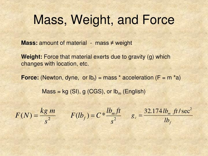 Mass, Weight, and Force