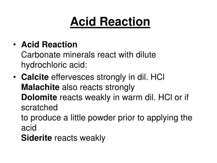 Acid Reaction