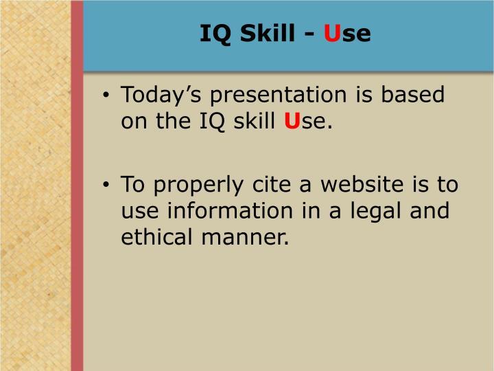 IQ Skill -