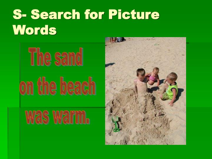 S- Search for Picture Words