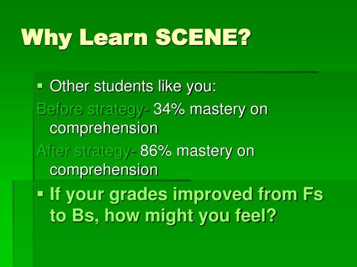 Why Learn SCENE?