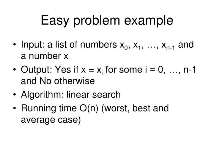 Easy problem example