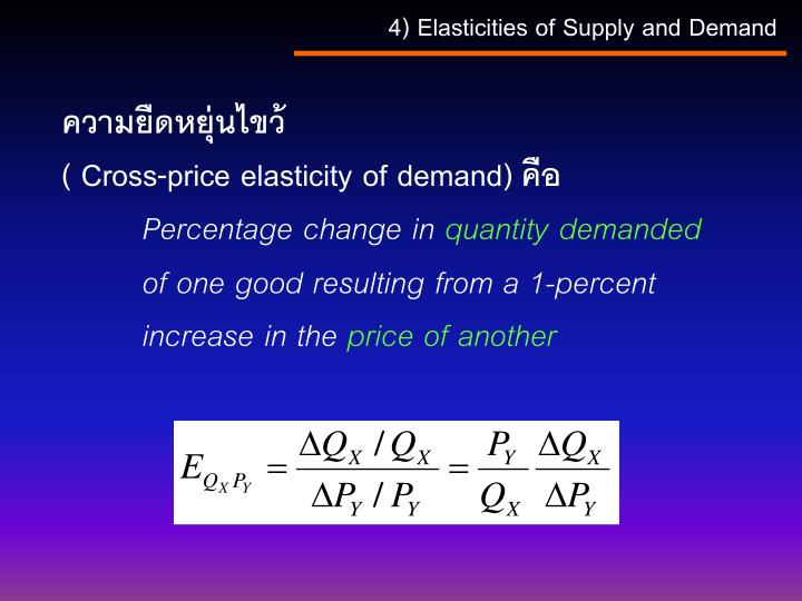 4) Elasticities of Supply and Demand