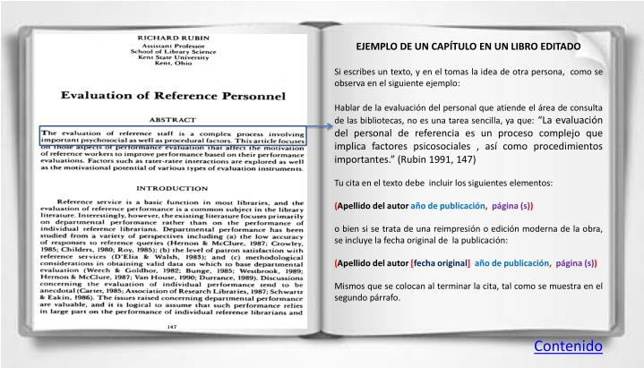 EJEMPLO DE UN CAPÍTULO EN UN LIBRO EDITADO