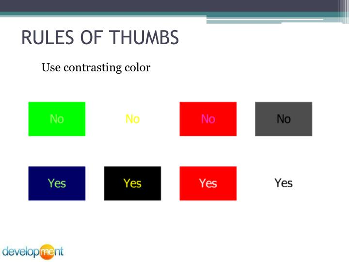 RULES OF THUMBS