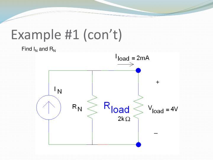 Example #1 (con't)