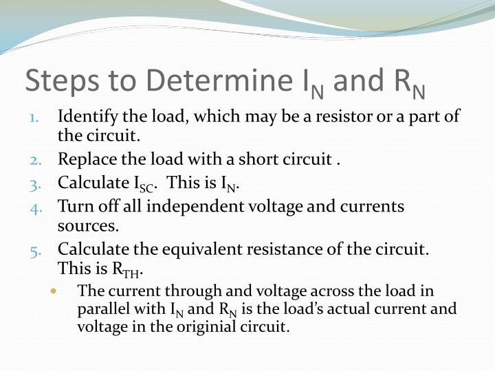Steps to Determine I