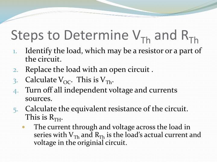 Steps to Determine V