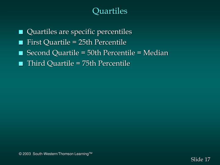 Quartiles