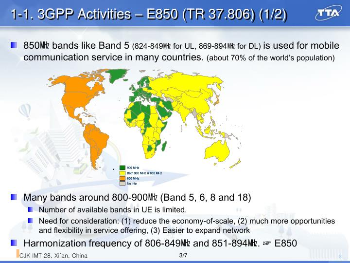 1 1 3gpp activities e850 tr 37 806 1 2