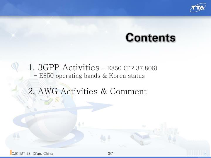 1. 3GPP Activities