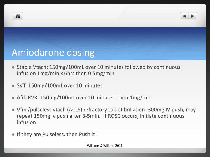 Amiodarone dosing
