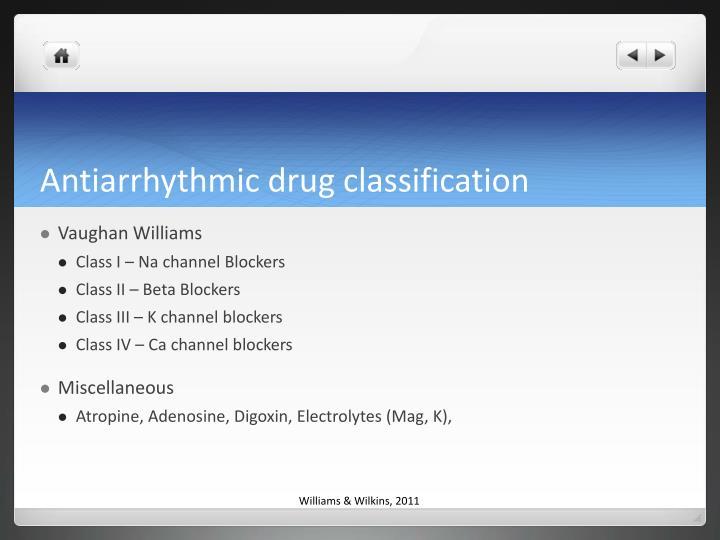 Antiarrhythmic drug classification