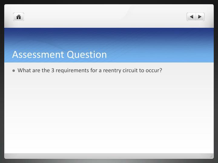 Assessment Question