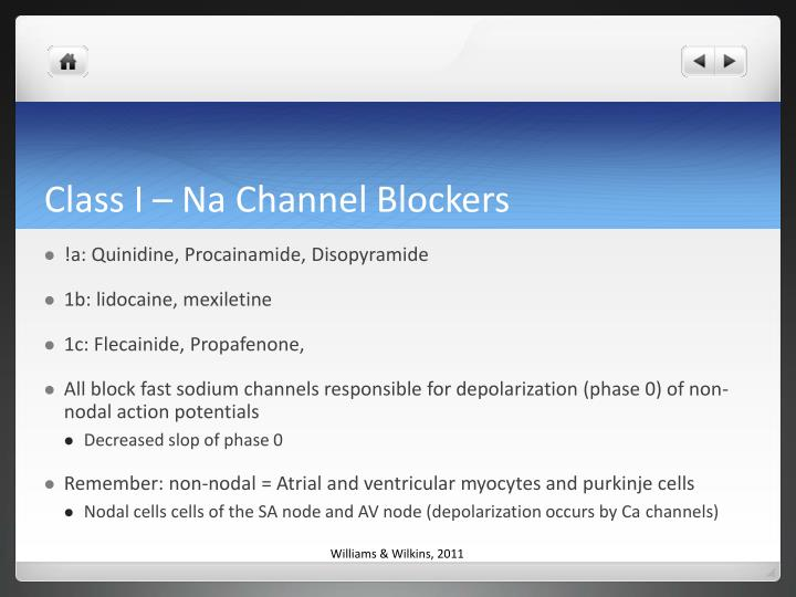 Class I – Na Channel Blockers