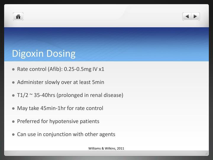 Digoxin Dosing