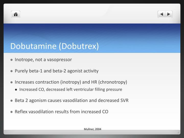 Dobutamine (Dobutrex)