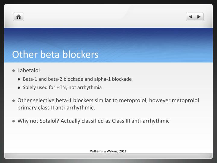 Other beta blockers