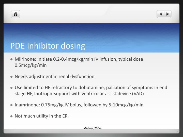 PDE inhibitor dosing