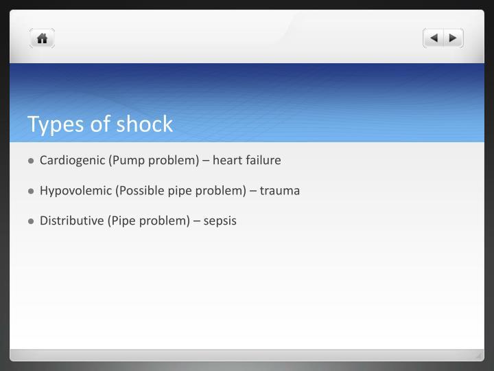 Types of shock