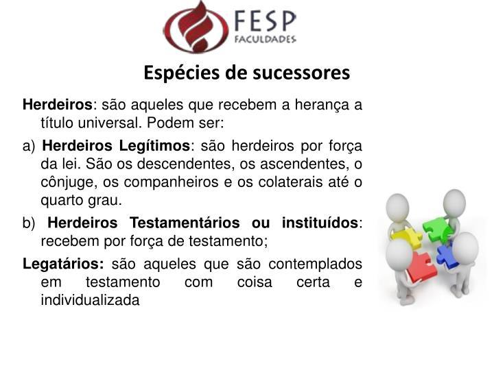 Espécies de sucessores